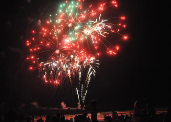 Record numbers visited Flagler Beach for the Fourth of July fireworks display.