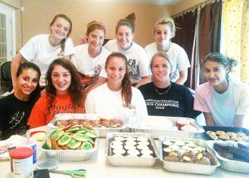 The Flagler Palm Coast girls soccer team baked goodies and delivered them last week to various fire stations throughout Palm Coast. COURTESY PHOTO