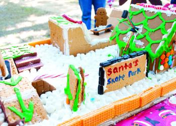 Santa's skate park was among the gingerbread creations to be voted on at the festival. PHOTOS BY SHANNA FORTIER