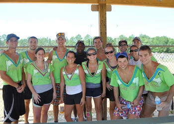 The Flying V-necks were one of 16 teams that competed in the coed championships Saturday, July 30, at the Flagler County Fairgrounds. PHOTOS BY SHANNA FORTIER