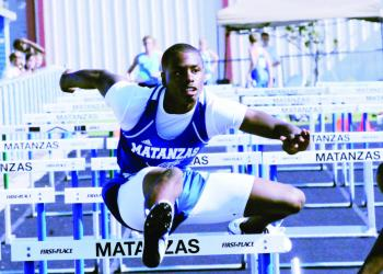 Rashaun Bosley took second place at the district championships in the 300-meter hurdles, finishing in 40.81 seconds, a new personal best.