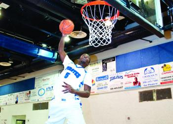 Matanzas' Wendell Powell was able to dunk in eighth grade. Four years later, he loves slamming it in opponents' faces. PHOTO BY SHANNA FORTIER