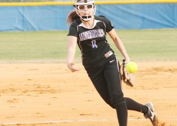 Matanzas sophomore pitcher Gabrielle Prickett tossed a no-hitter Tuesday, Feb. 15, against Atlantic. Prickett had 11 strikeouts, leading the Lady Pirates to a 9-2 victory. PHOTO BY ANDREW O'BRIEN