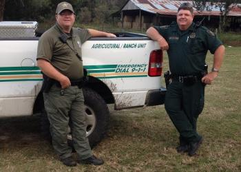 Deputies Steve Williams and Danny Clifton patrol Volusia and Flagler counties for agricultural crimes. (Photo by Wayne Grant)