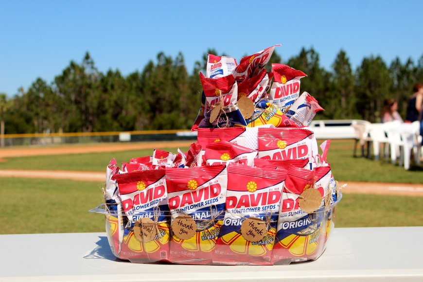 Who needs a bouquet of flowers when you have sunflower seeds? Photo by Jeff Dawsey