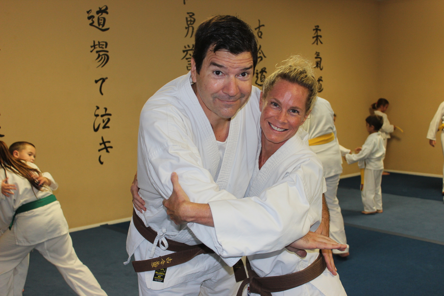 Sensei George Rego says the two have reached near-black belt status