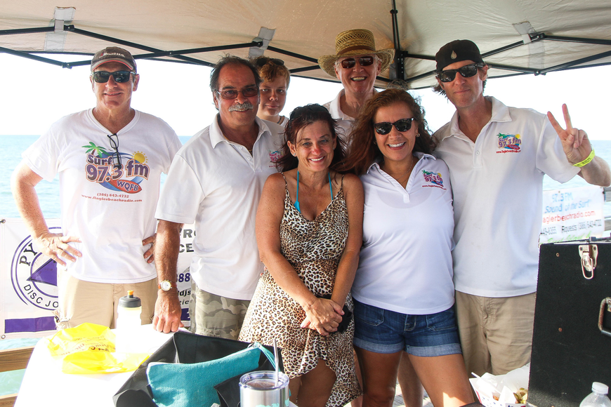 Surf 97.3 FM representatives. Photo by Paige Wilson