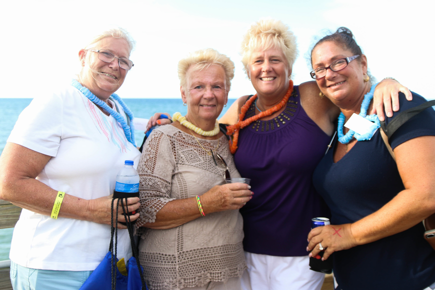 Palm Coast residents Dawn Hartman, JoAnn Theesfeld, LouLou Goodell and Kim Tilley. Photo by Paige Wilson