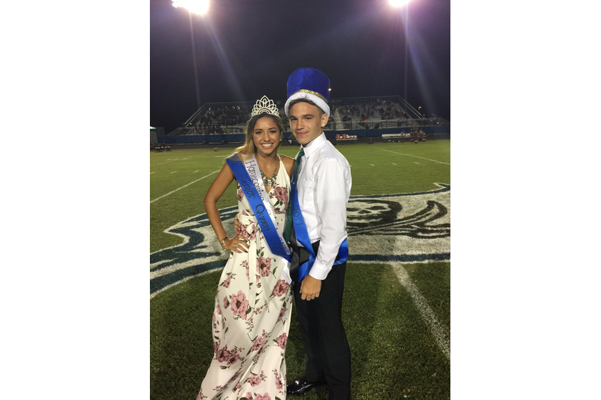 The new Matanzas homecoming king, Douglas Gray, and the queen, Rain Marti. Photo courtesy of Robert Roe