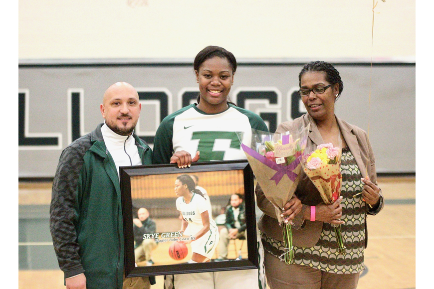 FPC senior Skye Green is honored during the Bulldogs' Senior Night. Photo by Ray Boone