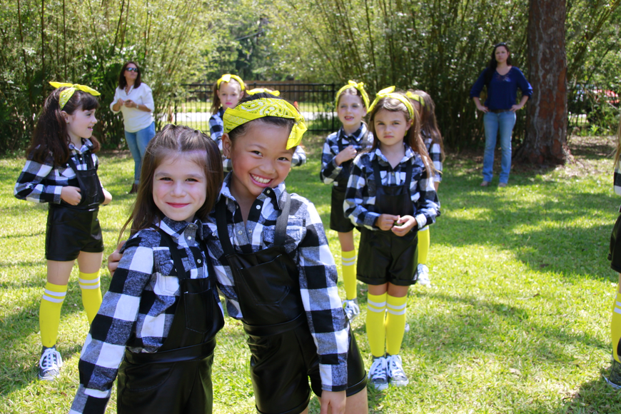 OKES dancers Bailey Hoffman and Bella Nong pose at the Earth Day celebration at Washington Oaks Gardens State Park. Photo courtesy of Rodney Harshbarger