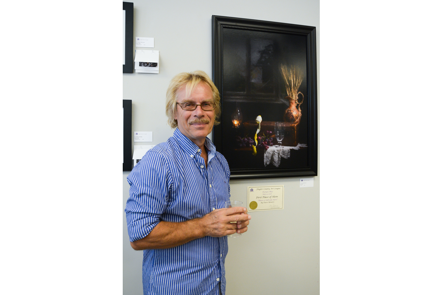 Dave Bowers earned first place at the Flagler County Art League's