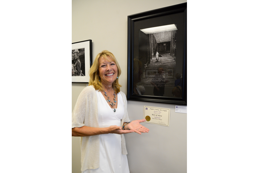 "Lori Vetter won ""Best in Show"" at the Flagler County Art League's"