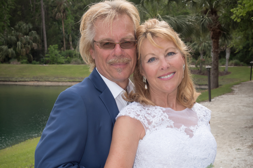 Dave and Lori Bowers have been married for about two months. Courtesy photo by Monique Sirois Futch, Memories in Time Photography