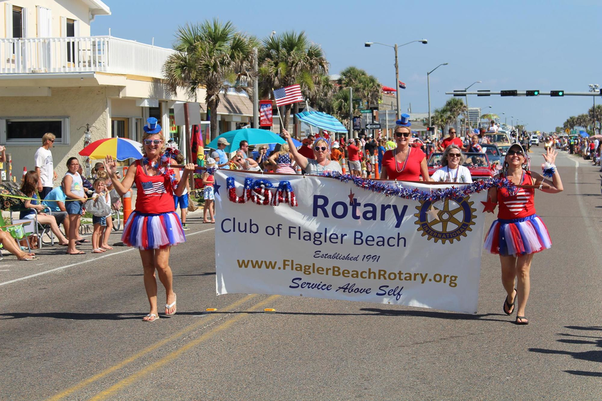 The Rotary Club of Flagler Beach is taking applications for those who want to be in the Fabulous Fourth Parade in Flagler Beach. Photo courtesy of Cindy Dalecki