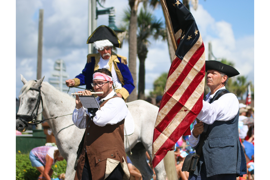 The Florida Agricultural Museum showcased America's history with their attire in the parade. Photo by Paige Wilson
