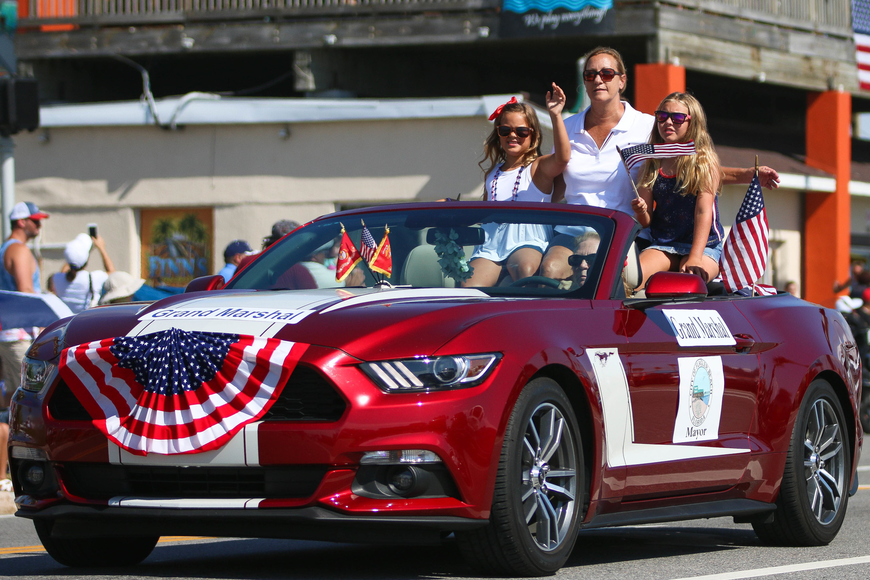 Flagler Beach Mayor Linda Provencher is the grand marshal of the parade. Photo by Paige Wilson