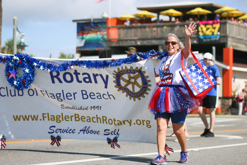 The Rotary Club of Flagler Beach is the official host of the Fabulous Fourth Parade. Photo by Paige Wilson