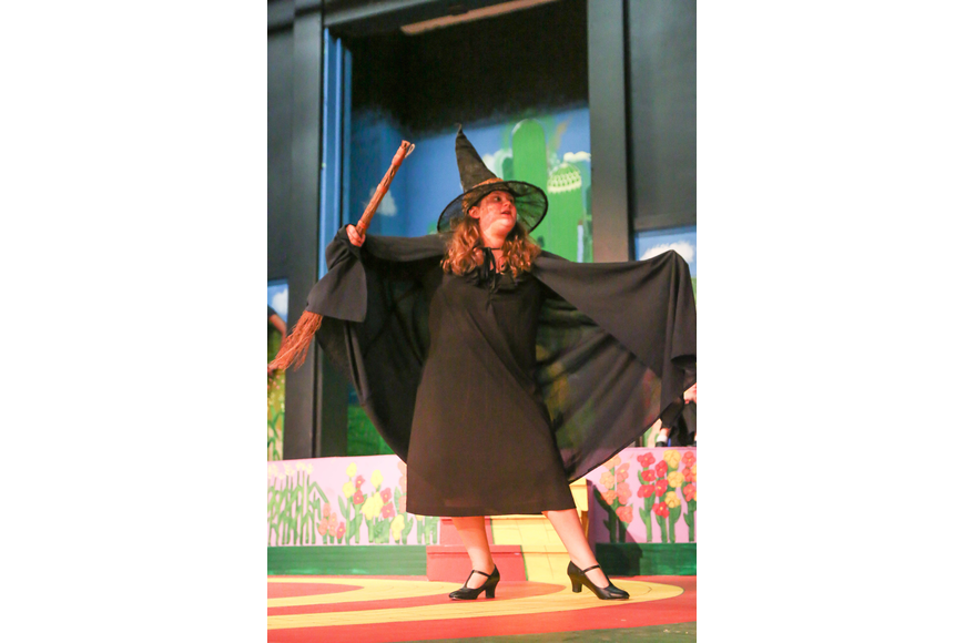 Molly Maresca plays the Wicked Witch. Photo by Paige Wilson