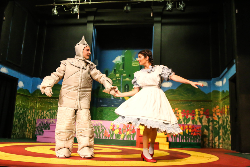 Tinman, played by Grabiel Auletti, spins Dorothy, played by Elana Sobhani. Photo by Paige Wilson