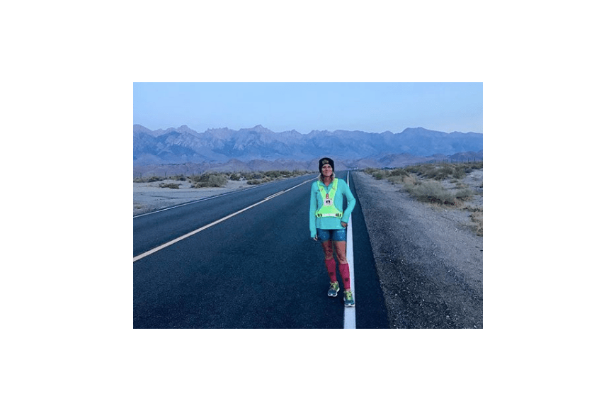 Dawn Lisenby during the Badwater 146 Solo. Courtesy photo