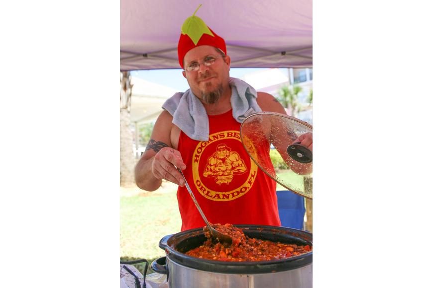 Port Orange resident Tom Panciello is competing in his fourth cook-off. Photo by Paige Wilson