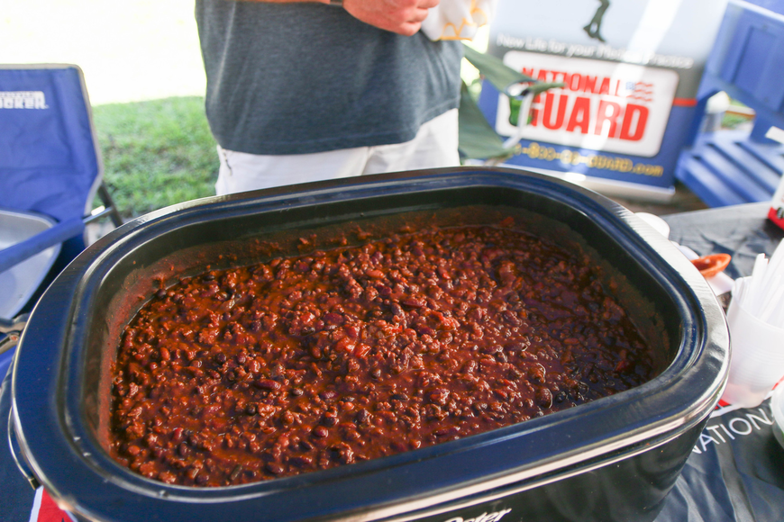 Palm Coast resident Mark Byerly won the People's Choice Chili award. His chili is made from a secret recipe, including farm-raised beef from a family farm.