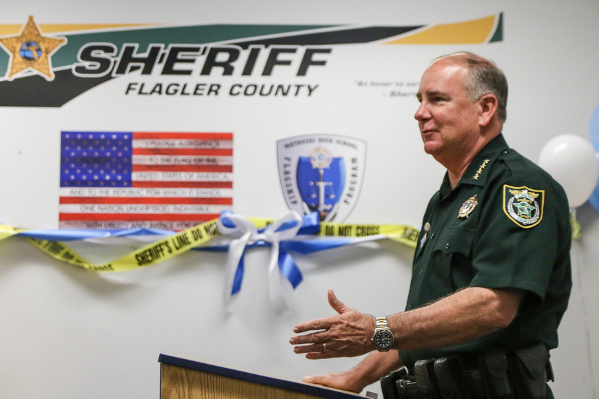 Sheriff Rick Staly thanked students for their collaboration and interest to start the new law and justice flagship. Photo by Paige Wilson