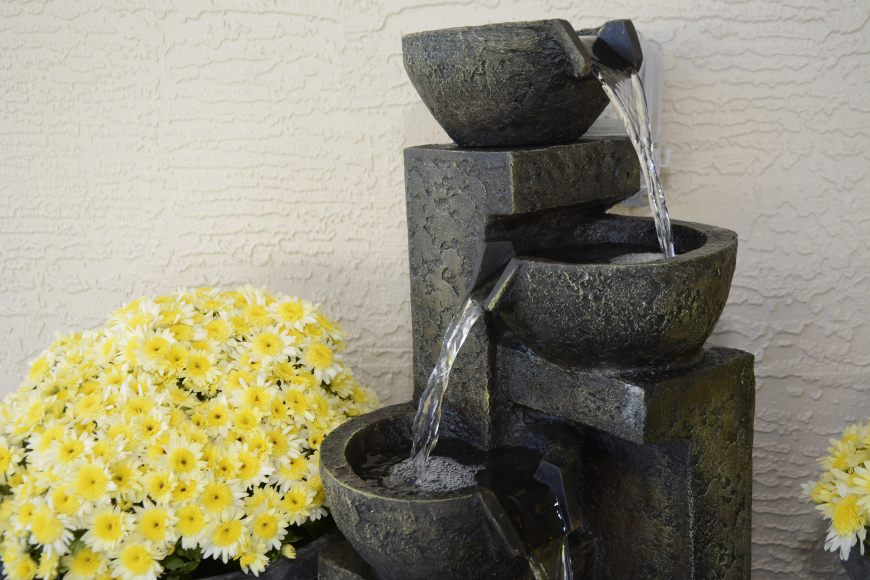 The Building Homes for Heroes organization places a bubbling fountain into every home to soothe soldiers diagnosed with PTSD.