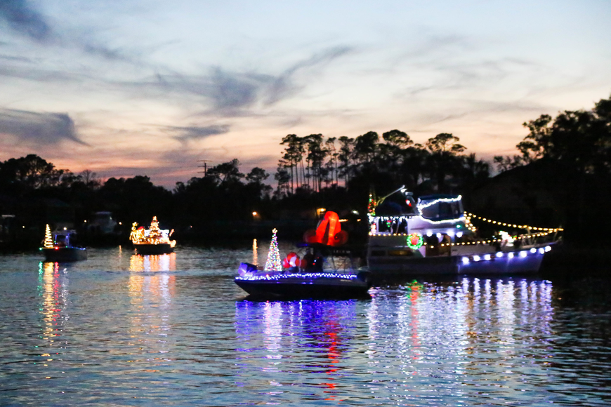 The 2017 Holiday Boat Parade. Photo by Paige Wilson