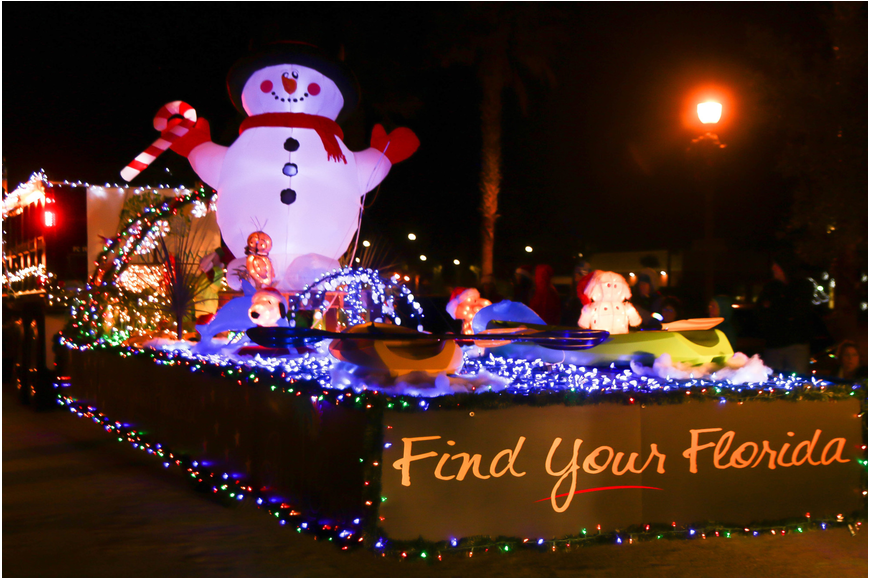 The city of Palm Coast's float in the 2017 Starlight Parade in Palm Coast. Photo by Paige Wilson