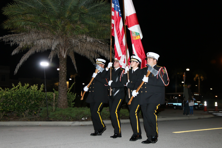 The Palm Coast Fire Department Honor Guard lead the parade. Photo by Paige Wilson