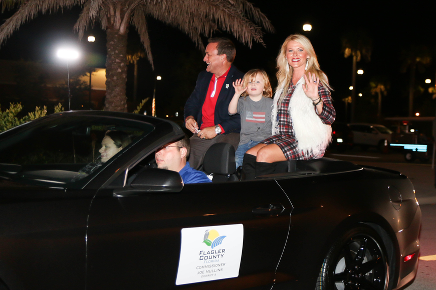 Flagler County Commissioner Joe Mullins with Jessie and Jennifer Mullins. Photo by Paige Wilson
