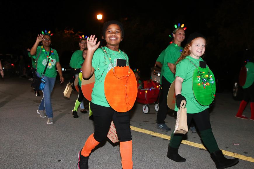 Girl Scouts shows their holiday spirit. Photo by Paige Wilson