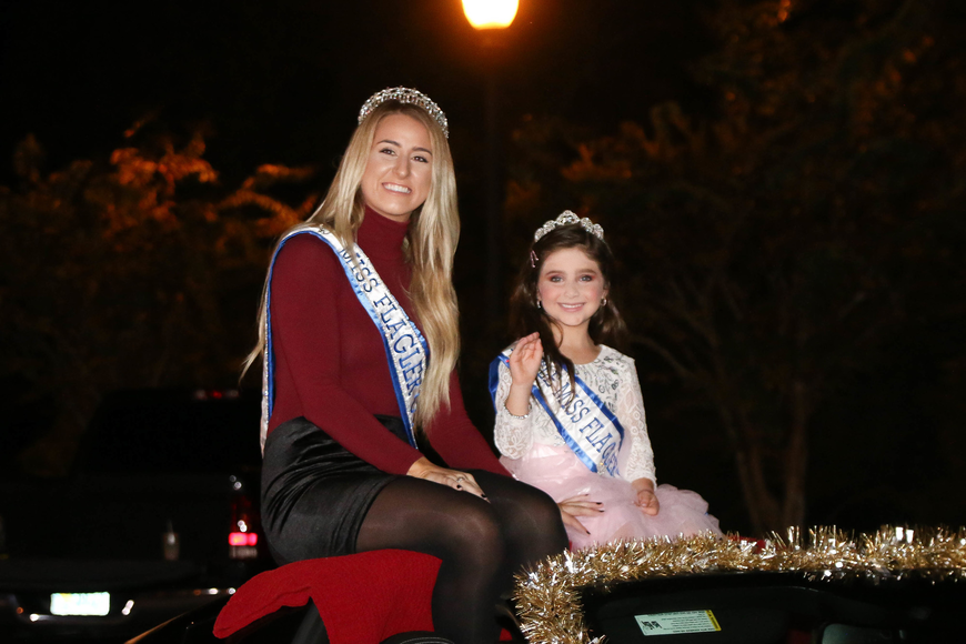 Miss Flagler County Christen Barney and Little Miss Flagler County (age 5-7) Kiya Cruz Morreale. Photo by Paige Wilson