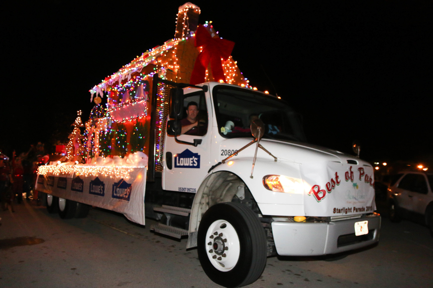 Lowe's Home Improvement won Best of Parade. Photo by Paige Wilson