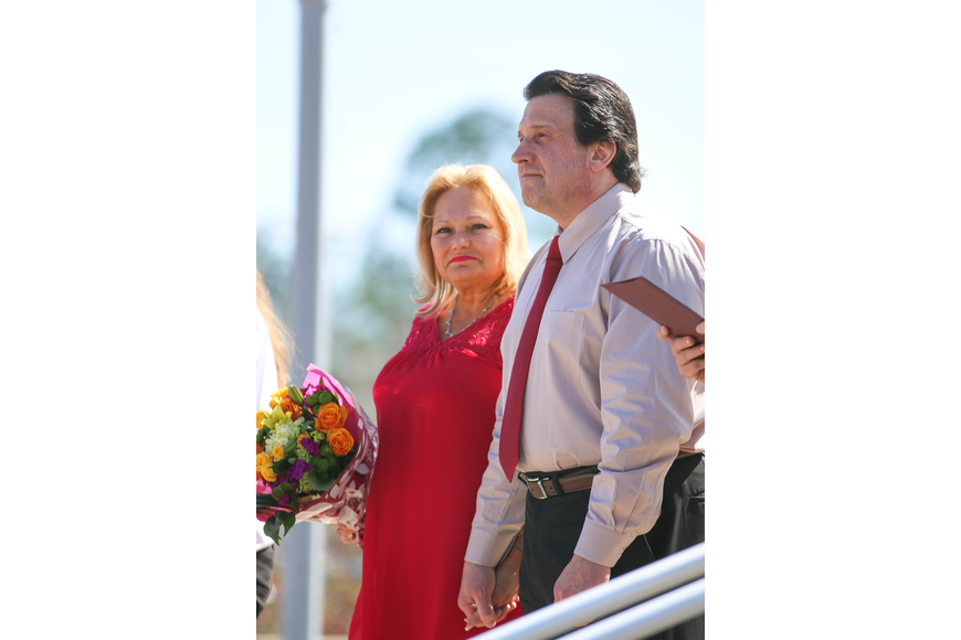 Palm Coast residents Margaret and Steven D'Errico get married for the second time. Photo by Paige Wilson