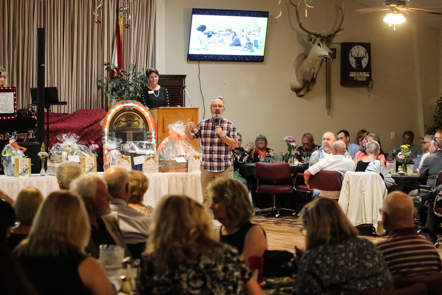 First United Methodist Church's Terry Wines speaks at the third-annual