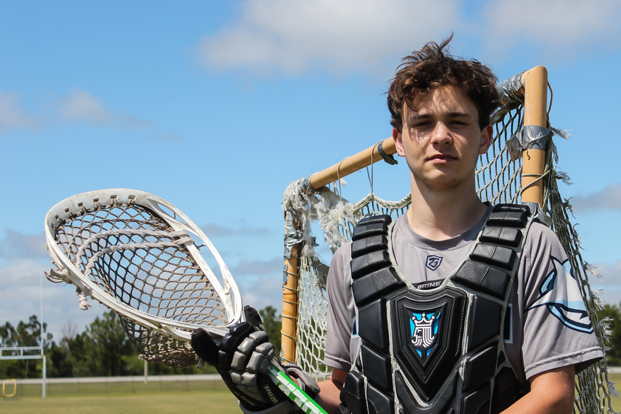 Matanzas lacrosse player Bryson Foxwell. Photo by Ray Boone