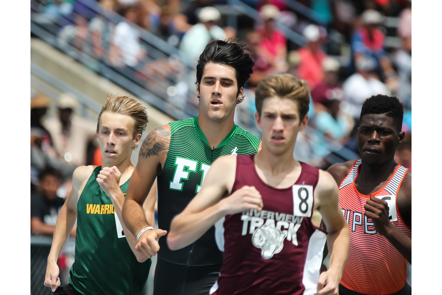 FPC's Jacob Miley approaches the final lap of the 800-meter run at the FHSAA track and field state championships. Photo by Ray Boone