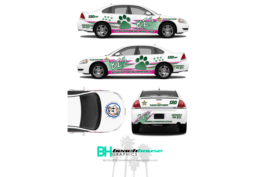 A rendering of the Bunnell Elementary School SRD car. Photo courtesy of FCSO