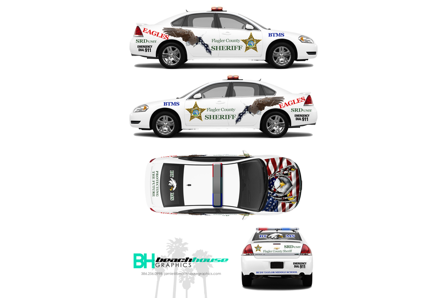 A rendering of the Buddy Taylor Middle School SRD car. Photo courtesy of FCSO