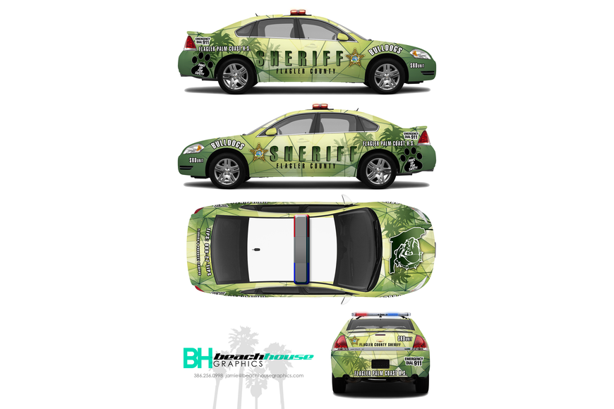 A rendering of one of the two Flagler Palm Coast High School SRD car. Photo courtesy of FCSO