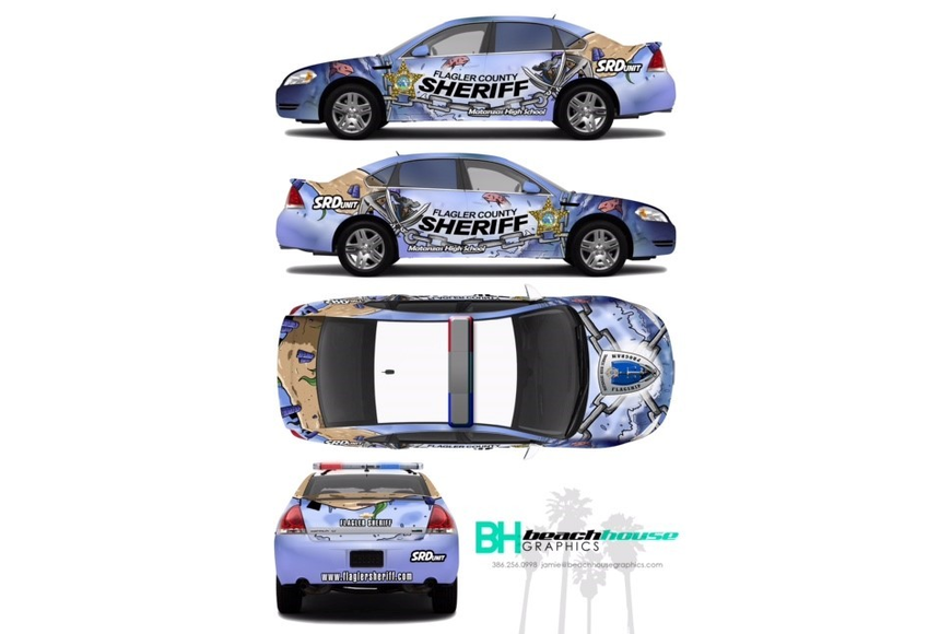 A rendering of the Matanzas High School SRD car. Photo courtesy of FCSO