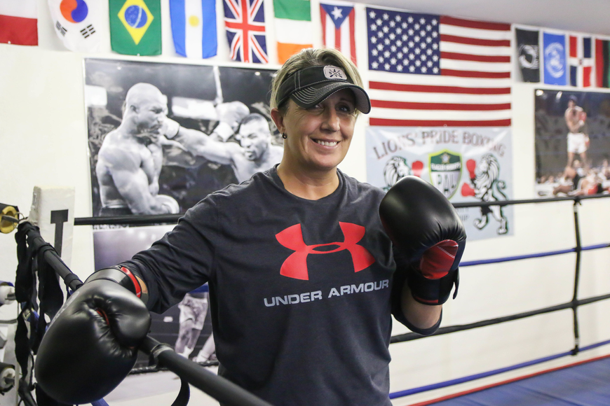 Shelley Burton is a former professional boxer and world title champion. Photo by Paige Wilson
