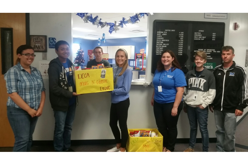 DECA members at Matanzas High School collected food for Grace's Pantry in Bunnell. Courtesy photo