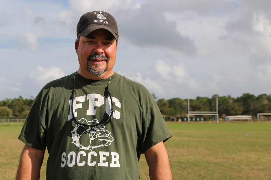 FPC girls soccer coach Pete Hald. Photo by Ray Boone