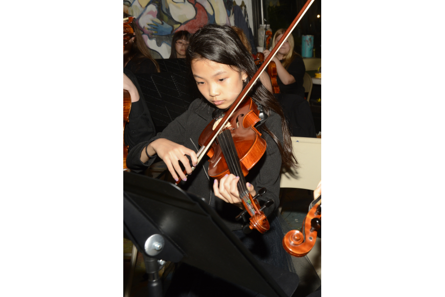 Michelle Taing is one of over 30 students  that make up the Harmony Chamber Orchestra.