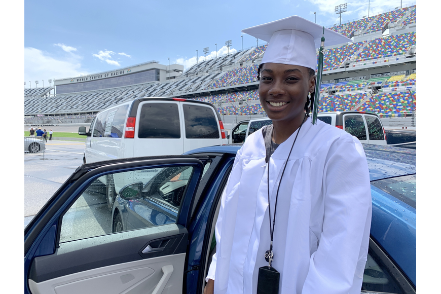 Que'Trina Brown graduates with a scholarship to Daytona State College. Photos by Brian McMillan Jahlia McCaskell