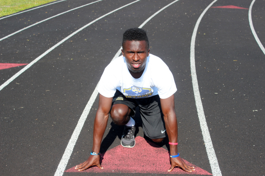 Adrian Killins took first in the 200-meter dash.